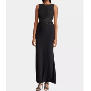 Ralph Lauren Dilmana Black Evening Maxi Dress